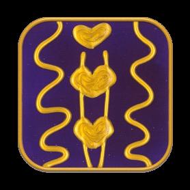 "Ingrid Auer - Symbol ""Rückverbindung mit Avalon"" dunkelblau"