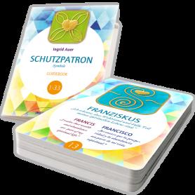 """Ingrid Auer - Energetisiertes Kartenset """"Schutzpatron-Symbole"""" DEUTSCH mit Guidebook"""