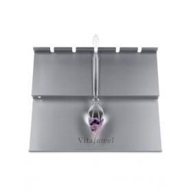 VitaJuwel Halter 5-Fach Für VitaJuwel Edelsteinphiolen (Aluminium)