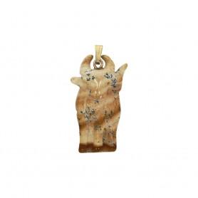 Anhänger Büffel Jaspis (Landschaftsjaspis), 3,6cm