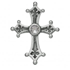 Anhänger Tempelritter-Kreuz mit Topas, 2,6cm
