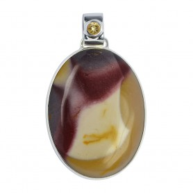 Anhänger Mookait, Cabochon oval