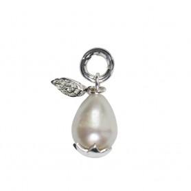 Anhänger Perle oval, 2,8cm