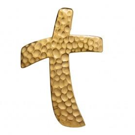Anhänger Momentum-Kreuz, vergoldet, 3,8cm
