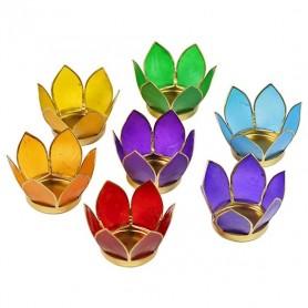 Teelichthalter Chakra -Lotus Set klein 8cm- in Gold
