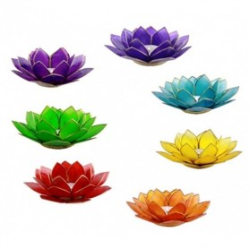 Teelichthalter Chakra -Lotus Set GROSS in Silber