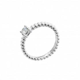 Gabriele Iazzetta - Liebes-Energie-Ring mit großem Zirkon Silber