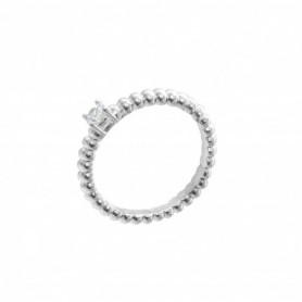 Gabriele Iazzetta - Liebes-Energie-Ring mit kleinem Zirkon Silber