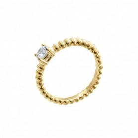 Gabriele Iazzetta - Liebes-Energie-Ring mit großem Zirkon Gold