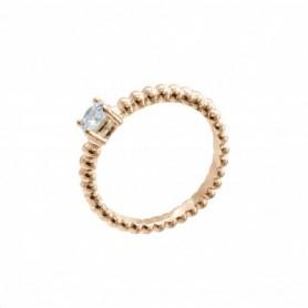 Gabriele Iazzetta - Liebes-Energie-Ring mit großem Zirkon Rosé Gold