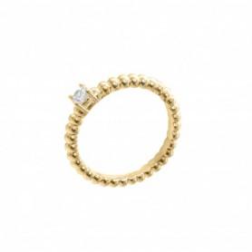 Gabriele Iazzetta - Liebes-Energie-Ring mit kleinem Zirkon Gold