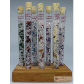 One World Minerals - quintESSENCE Edelsteinwasser-Stab CHAKRA  Set + Ständer