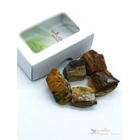 One World Minerals - versteinertes Holz Wassersteine  - Schachtel mit Sichtfenster - quintESSENCE Wassersteine