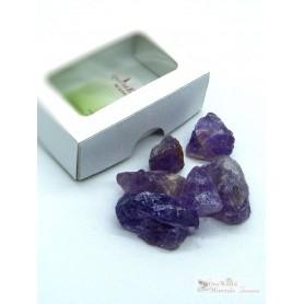 One World Minerals - Amethyst Wassersteine - Schachtel mit Sichtfenster - quintESSENCE Wassersteine