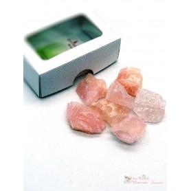 One World Minerals - Rosenquarz Wassersteine - Schachtel mit Sichtfenster - quintESSENCE Wassersteine