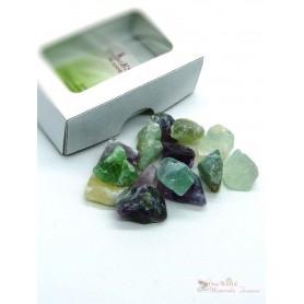 One World Minerals - Fluorit Wassersteine - Schachtel mit Sichtfenster - quintESSENCE Wassersteine