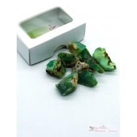 One World Minerals - Chrysopras Wassersteine - Schachtel mit Sichtfenster - quintESSENCE Wassersteine