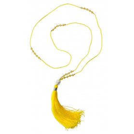 """Buddha Mala"" gelb mit 25 Glasperlen 48cm"