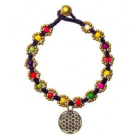 """Armband """"Flower mit Blume des Lebens"""" bunt"""