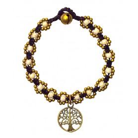 """Armband """"Flower mit Baum des Lebens"""" weiß"""