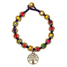 """Armband """"Flower mit Baum des Lebens"""" bunt"""