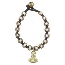 "Armband ""Flower mit Buddha"" weiß"