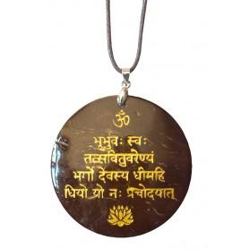 "Halskette ""Gayatri Mantra"" Coconut gold lackiert 5cm"