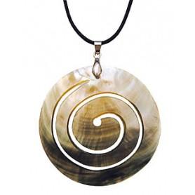 """Muschel - Halskette """"Spirale"""" 6cm"""