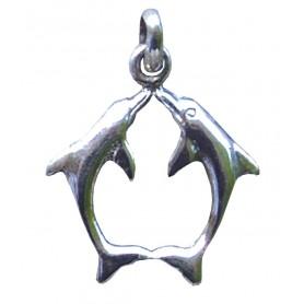 """Anhänger """"Partnerdelphin"""" Silber 925 1"""
