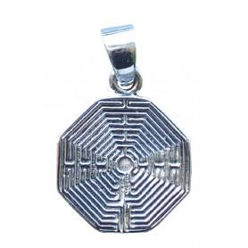 "Anhänger ""Labyrinth Amiens"" 2cm Silber 925 5"