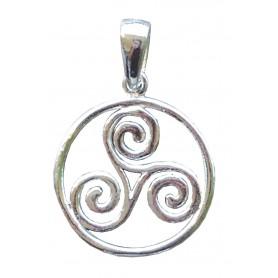 """Keltische """"Triskele im Kreis"""" 2cm Silber 925 2"""