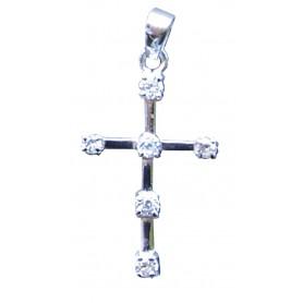 """Anhänger """"Kreuz mit 6 Zirkonia"""" Silber 925 1"""