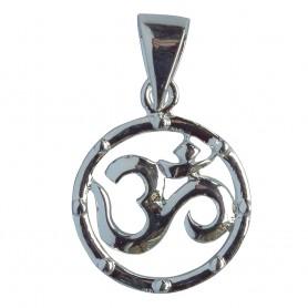 """Anhänger """"Om Circle"""" Silber 925 1"""