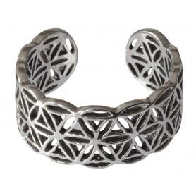"Ring ""Blume des Lebens"" offen Silber 925 4"