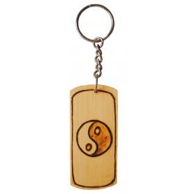 "Schlüsselanhänger ""Yin Yang"" Bambus 8cm"