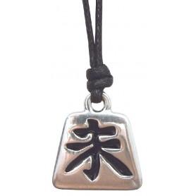 """Anhänger """"Wei Chi"""" Zinn 3cm mit Baumwollband"""