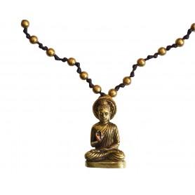 """Halskette """"Buddha"""" mit 80 Messingperlen 35cm"""