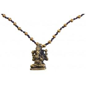 """Halskette """"Ganesha"""" mit 80 Messingperlen 35cm"""