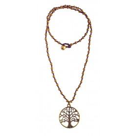 """Halskette """"Baum des Lebens"""" mit 80 Messingperlen 35cm"""