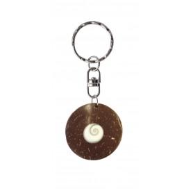 Schlüsselanhänger Kokosnuss mit Shiva-Eye 3