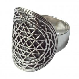 "Ring ""Shri Yantra"" Silber 925 6"