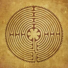 """Leinwanddruck """"Labyrinth von Chartres"""" 38cm"""
