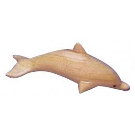 Delphin Holz natur 8cm