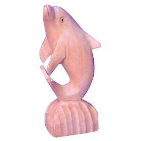 Standdelphin Holz natur 10cm