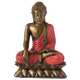 Buddha mit Lotus Resin 22cm