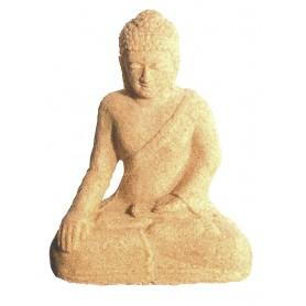 Buddha in Meditation Sandstein natur 10x15cm