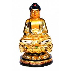 """Gautama Buddha"" Resin goldglänzend 6"