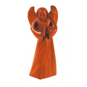 "Engel ""segnend"" Holz braun 8x18cm"