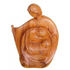 """Heilige Familie"" Holz braun 12x18cm"