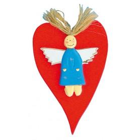 """""""Schutz(b)engel Hearty Engel"""" Holz bunt 10x14cm"""